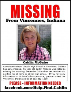 MISSING TEEN - CAITLIN MCGUIRE